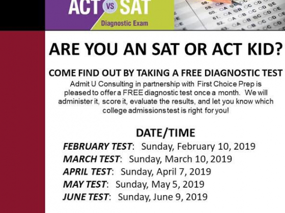 Free Diagnostic Test Dates